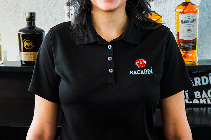 BACARDÍ Bat Black Polo Shirt (Unisex)