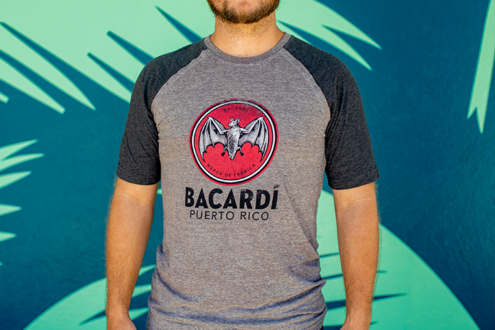 BACARDÍ T-Shirt Charcoal - Limited Sizes Only