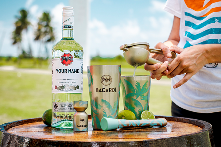 Tropical Cocktail Kit + Personalized BACARDÍ Superior