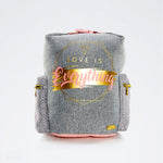 Mochila Lesslie Polinesia Gris / Rosa Love is Everything