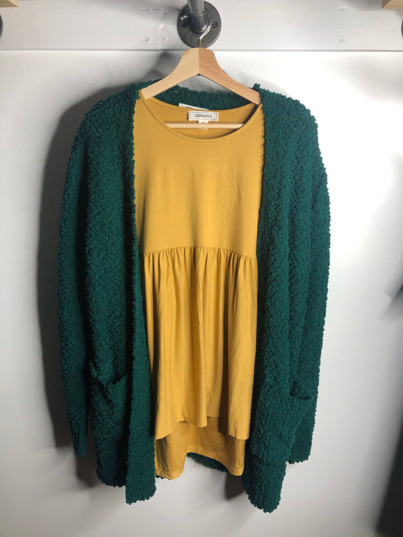 Deep Green Cardigan