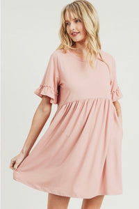 Rose Babydoll Dress