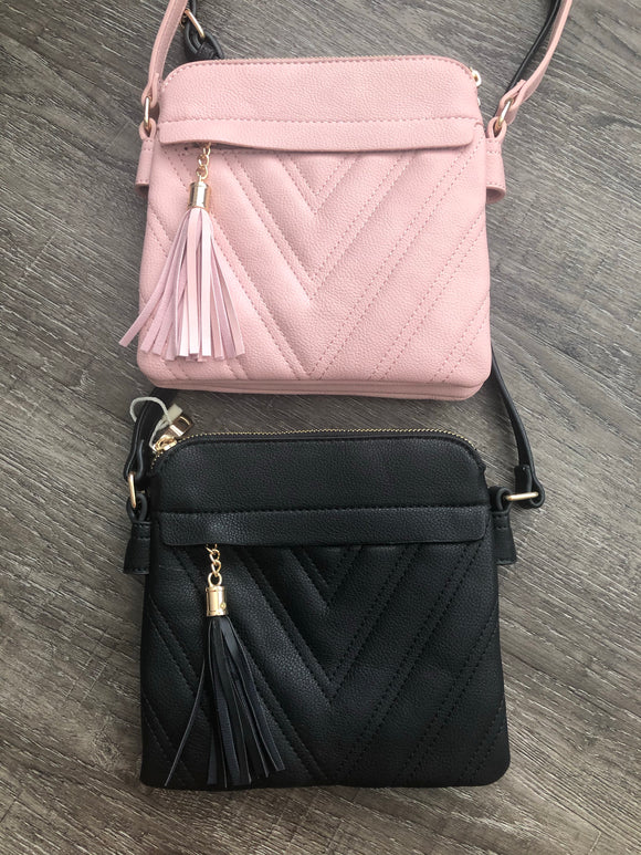 Tassel Chevron Crossbody