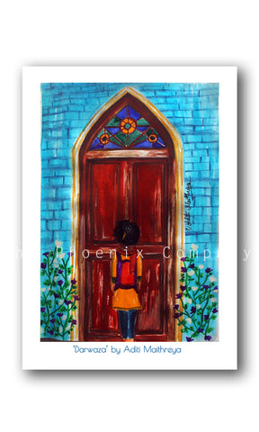 Stained Glass Door Print