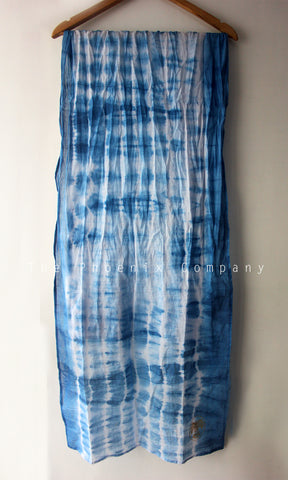 Light Blue Tie & Dye Stole