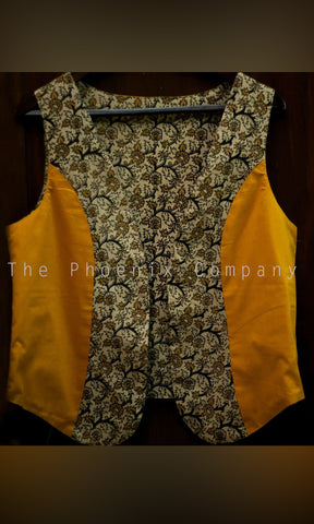 Off-white Floral kalamkari Jacket