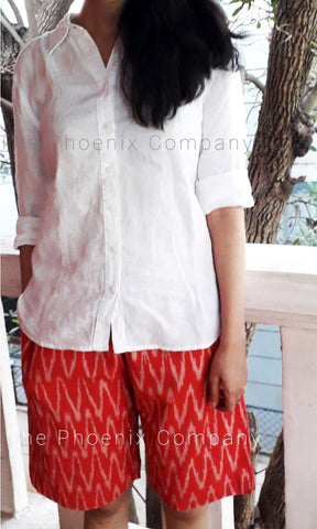 Red Ikat Shorts