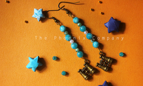 Binoculars Bead Earrings