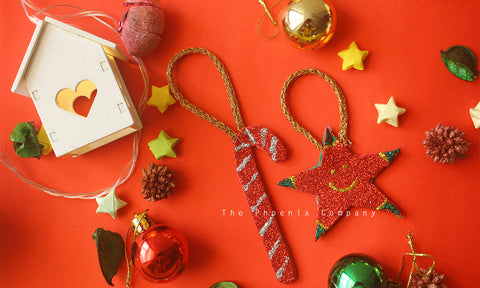 Candycane & Star Handmade Christmas Decoration