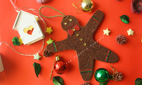 Gingerbread man Handmade Christmas Decoration