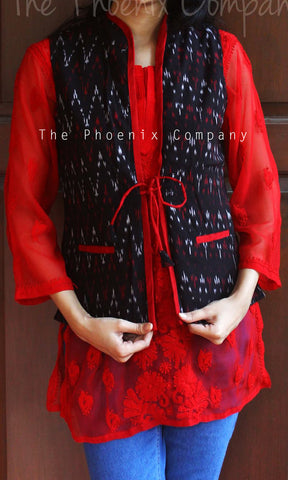 Black & Red ikat