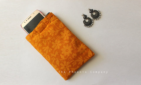 Mustard Cell Phone Pouch