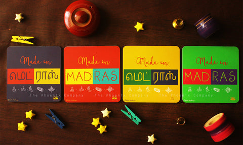 Made in Madras Coasters (Set of 4)