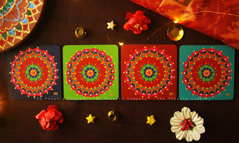 Festive Coasters (Set of 4)