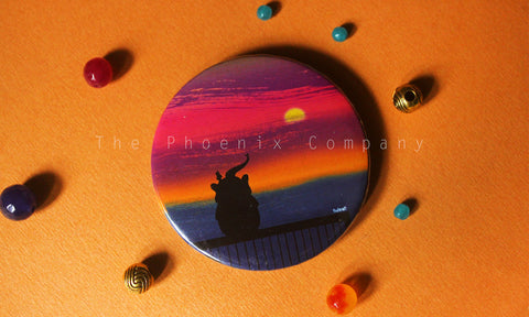 Beautiful Horizon Button Badge
