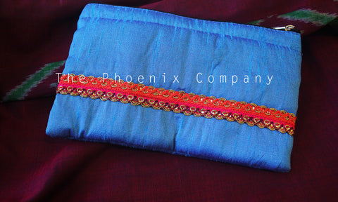 Blue Multipurpose Designer Purse