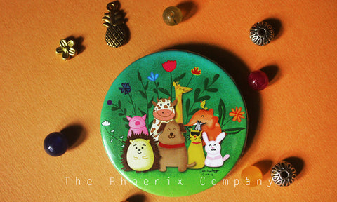 Animal Group Photo Button Badge
