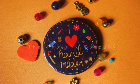 I love Handmade Button Badge