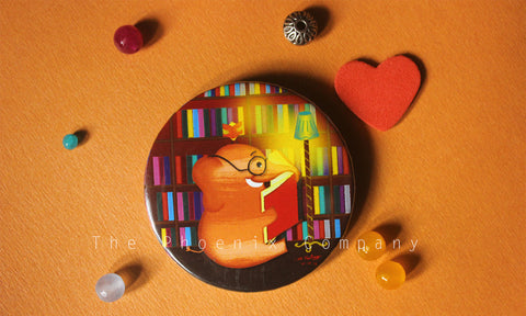 Book Lovers Button Badge