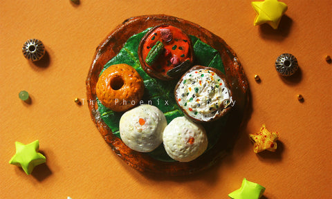 Idli-Vada Fridge Magnet