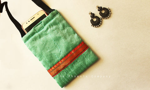 Pastel Green Mobile Phone Pouch