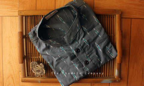 Grey Ikat Short Kurta