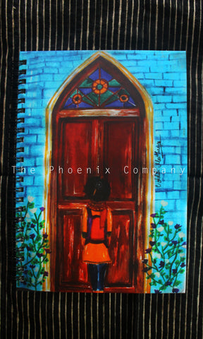Stained Glass Door Notebook