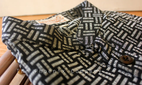 Black Lines Cotton Short Kurta