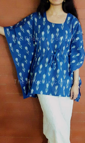 Blue Ikat Short Kaftan