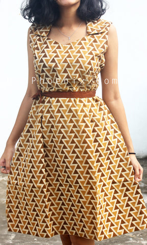 Brown Triangles Dress