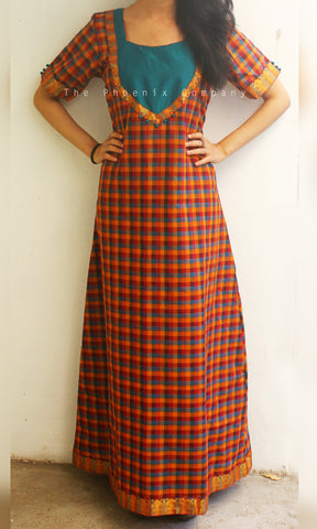 Chettinad Checks Maxi Dress