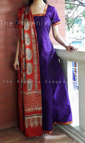 Dark Purple Anarkali Dress