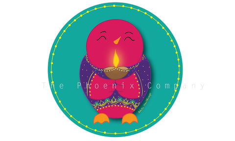 Little Birdie Diwali Fridge Magnet