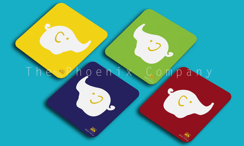 Pop Art Elephant Coasters (set of 4)