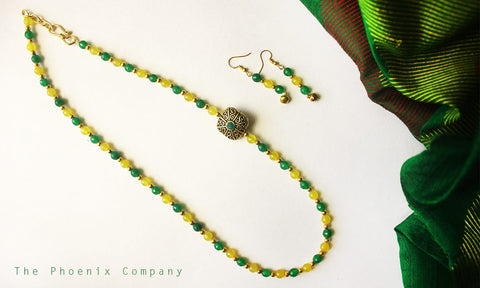 Joy of Mangoes Earrings & Necklace Set