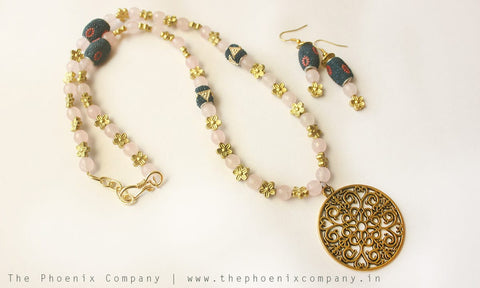 The Essence of May Earrings & Necklace Set