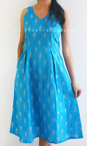 Light Blue Ikat Dress