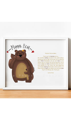 Mamma Bear Mother's Day Print
