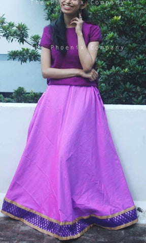 Pink & Purple Ethnic Skirt