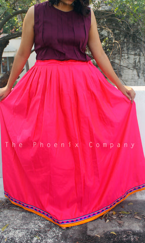 Bright Pink Long Skirt