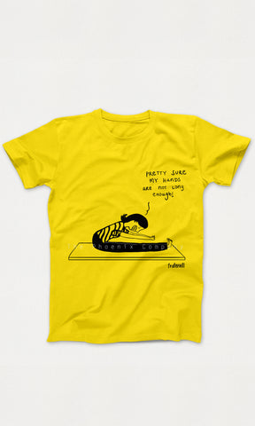 Yellow Reaching Toes Workout T-shirt