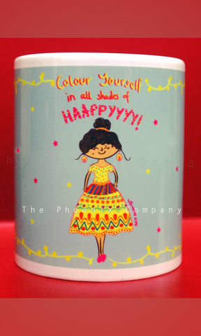 Colour Yourself in All Shades of Happy Mug