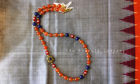 Tri-Coloured Beaded Necklace