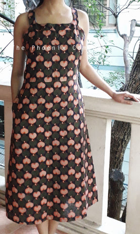 Leaf Pattern Ajrakh Dress