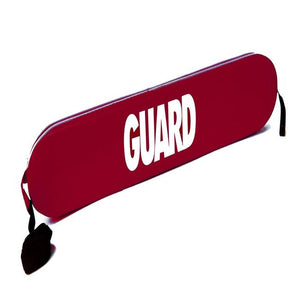 Rescue Tube- RED with Guard Logo in White
