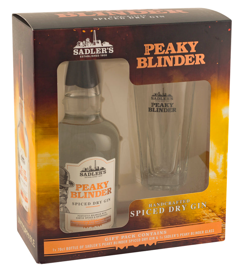 Peaky Blinder Spiced Dry Gin and a Glass Gift Set - thedropstore.com