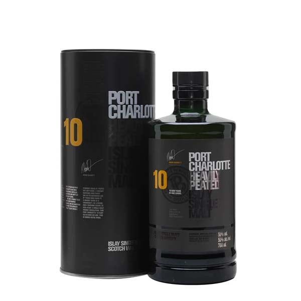 Bruichladdich Port Charlotte 10yr Old Islay Single Malt Whisky - thedropstore.com