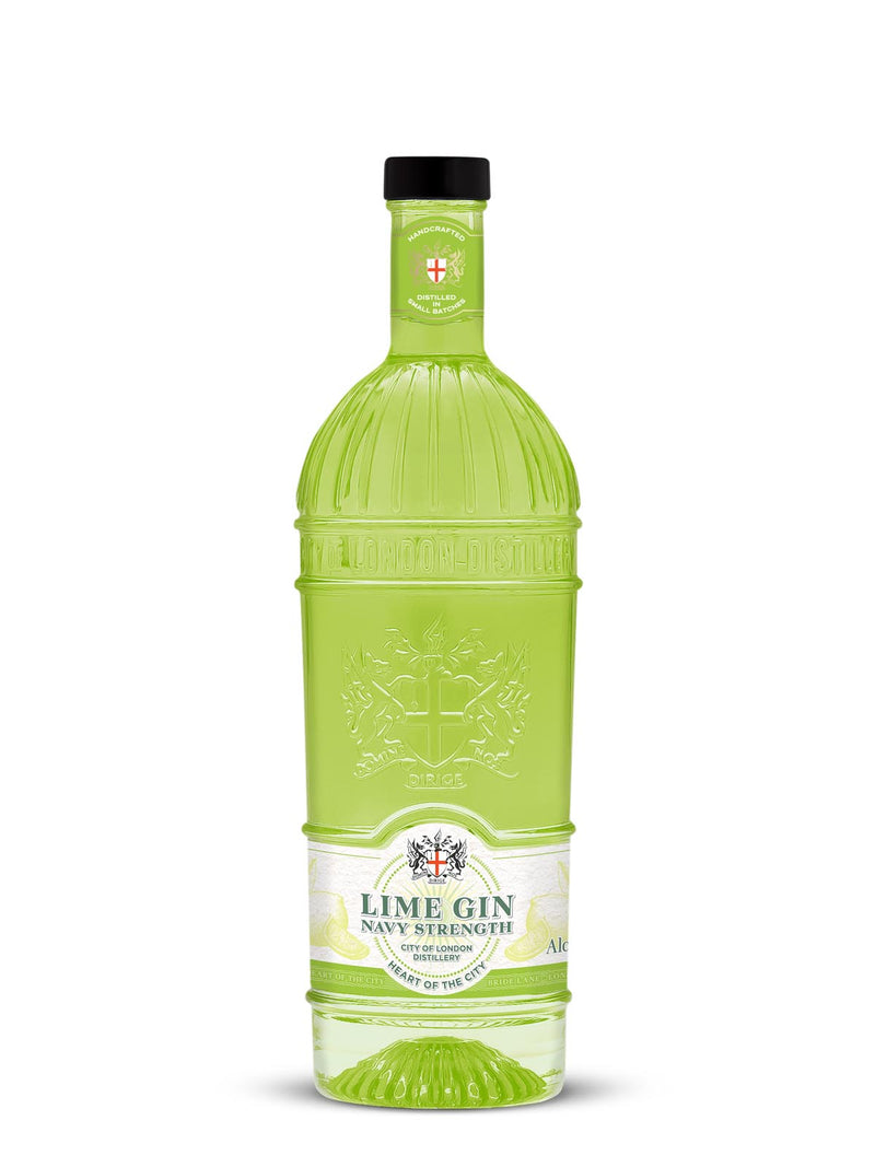 City of London Distillery Navy Strength Lime Gin - thedropstore.com