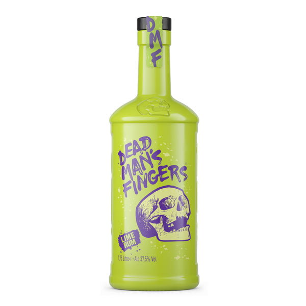 NEW- Dead Man's Fingers Lime Rum Extra Large 1.75 Litre