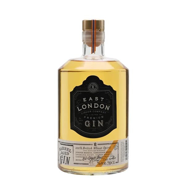 East London Liquor Company (ELLC)  Barrel Aged Gin -  Ex-Cider & Ginger Beer Casks - thedropstore.com
